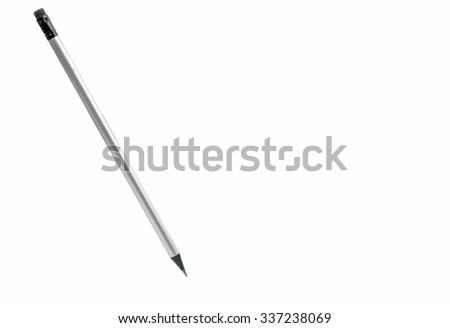 gray pencil on a white background