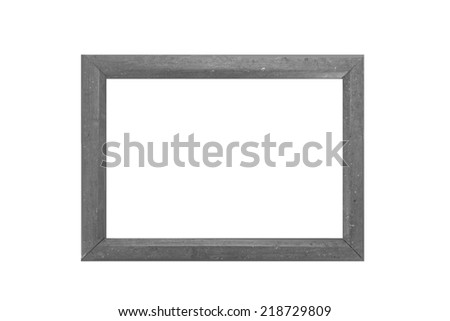 Gray picture frame on a white background.