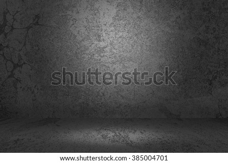 Gray Prison Cell Background - stock photo