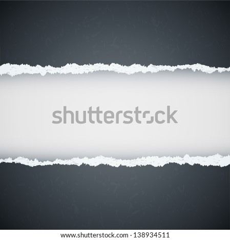gray ripped paper. Raster copy of vector illustration