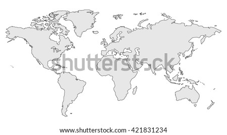 Gray similar world map blank infographic stock illustration gray similar world map blank for infographic isolated on white background gumiabroncs Gallery