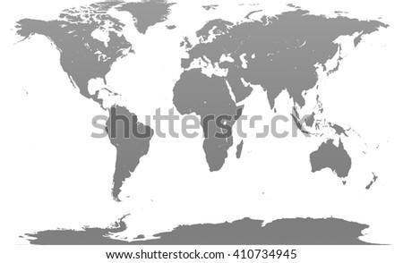 Gray similar world map. Monochrome world map blank. World map flat. World map template. World map paper. World map infographic. World map clean. World map art. - stock photo