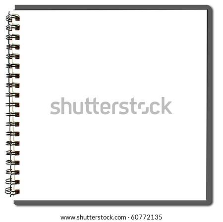 gray sketch book - stock photo
