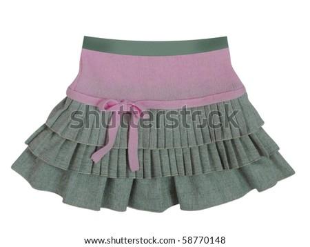 gray skirt - stock photo