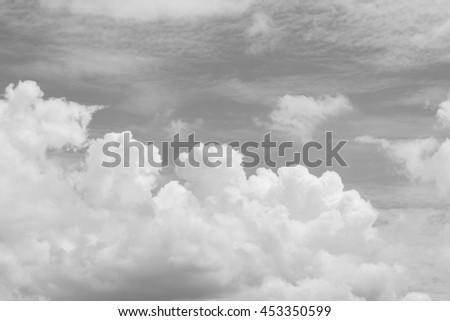 gray sky color tone of clound soft abstract background - stock photo