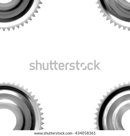 Gray sprockets on white background - abstract illustration - stock photo