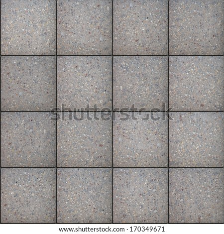 Gray Square Pavement. Seamless Tileable Texture. - stock photo
