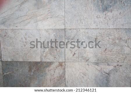 Gray stone tiles floor background - stock photo