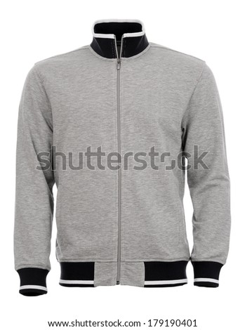 Gray sweater - stock photo
