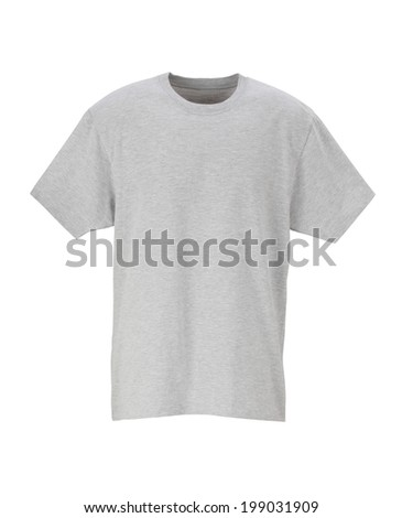 Gray T-Shirt /clipping path  - stock photo