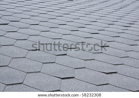Gray tile roof, for backgrounds or textures - stock photo