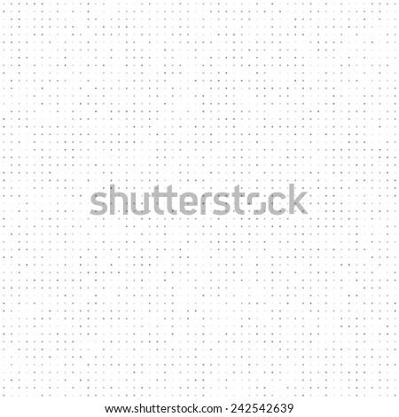 Gray tinted dots seamless pattern. White background. - stock photo