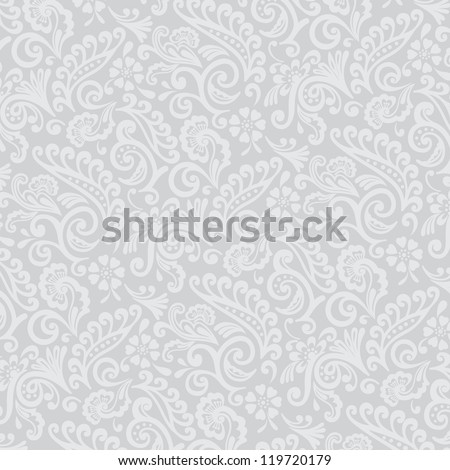 Gray Tones Victorian Wallpaper Background - stock photo