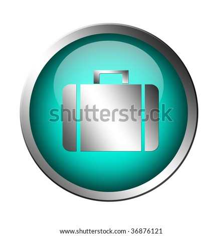 gray travel signal over blue background. isolated illustration - stock photo