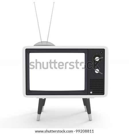 gray TV - stock photo