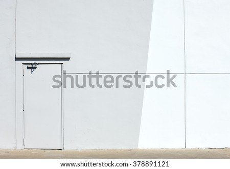 Gray  wall and  armor door