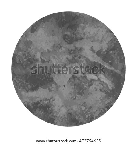 Gray watercolor circle on white background.