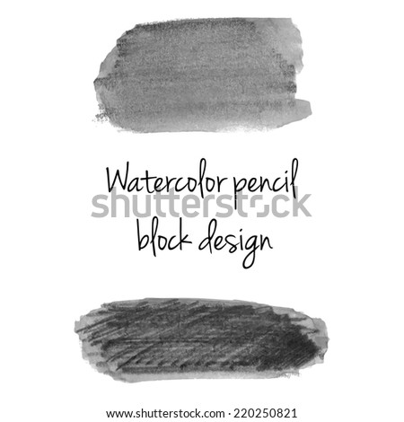 Gray watercolor pencil background template - stock photo