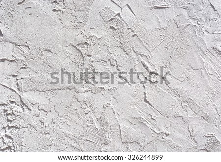 Gray white rough abstract stucco texture for background - stock photo