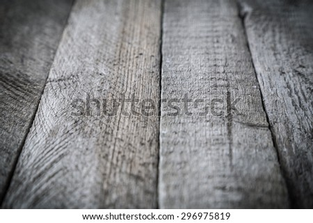 Gray wood plank texture. Abstract background, shallow focus, empty template - stock photo