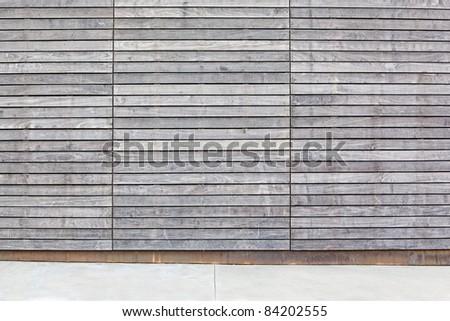 gray wood wall background - stock photo
