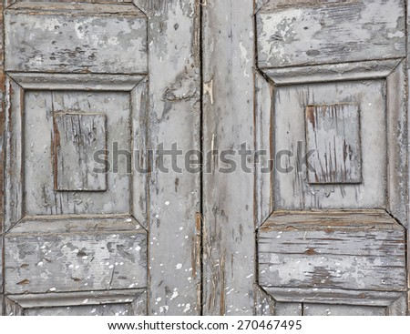 gray wooden closure close up, grunge background