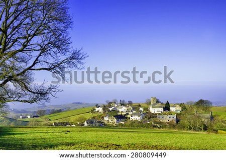 Grayrigg village in Cumbria - stock photo