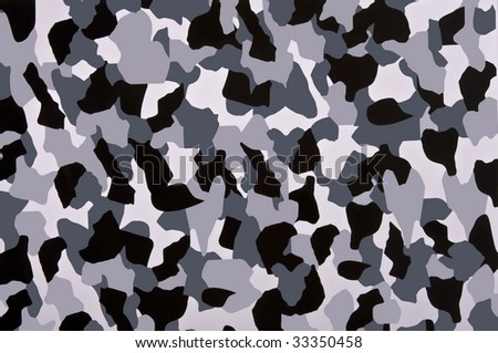 Grayscale camouflage pattern. - stock photo