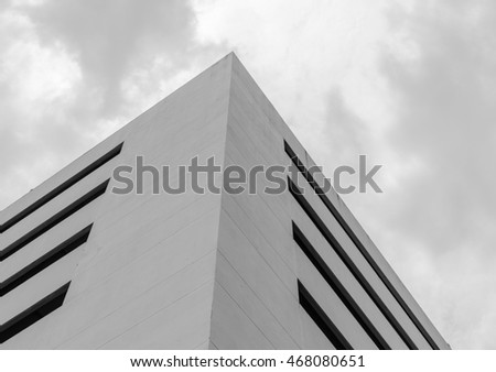 Grayscale office building