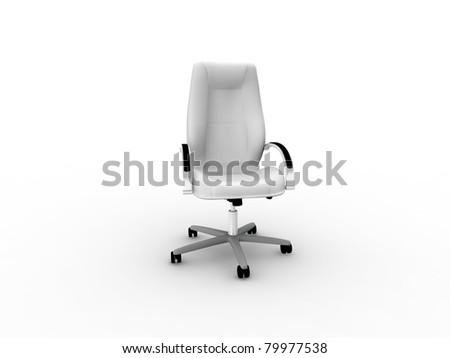 grayscale office easy chair - stock photo