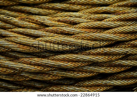 Greased cables - stock photo