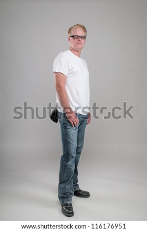 greaser standing - stock photo