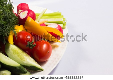 great abundance of vegetables on a plate