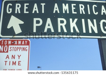 Great America Parking sign