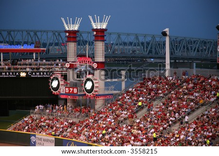 Great American Ballpark in cincinnati, home of the Reds - stock photo