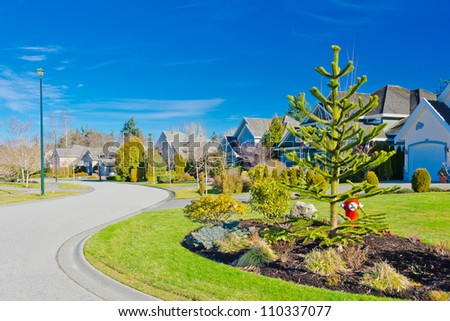 Great and comfortable neighborhood.  Homes in suburbs of Vancouver, Canada