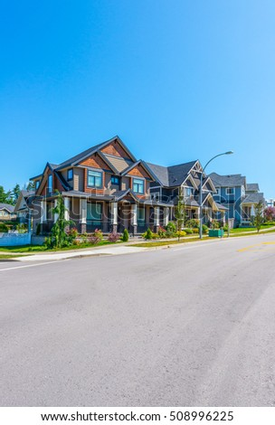Great and comfortable neighborhood in the suburbs of Vancouver, Canada.