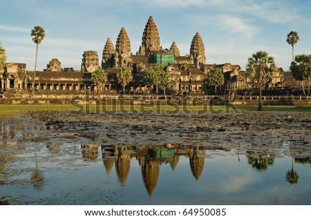 Great Angkor Wat temple in Cambodia
