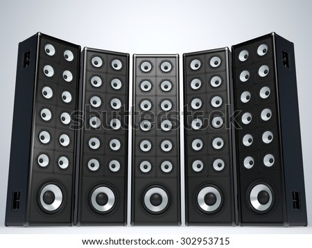 Great audio speakers - stock photo