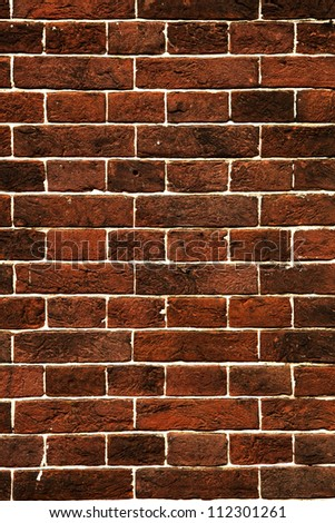 Great background made of a brick wall - stock photo
