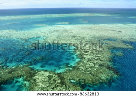 Great Barrier Reef, Australia - stock photo