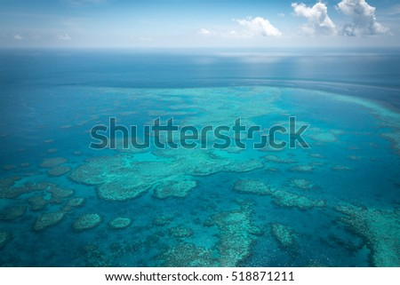 Great Barrier Reef from above, Queensland, Australia