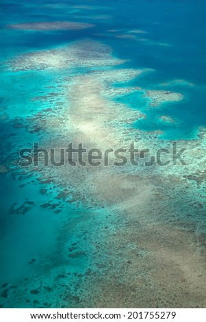 Great Barrier Reef in Queensland in Australia