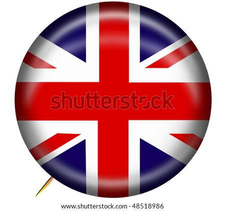 Great Britain Button - stock photo