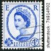 GREAT BRITAIN - CIRCA 1952: A stamp printed in the UK, shows the Queen Elizabeth II, circa 1952 - stock photo