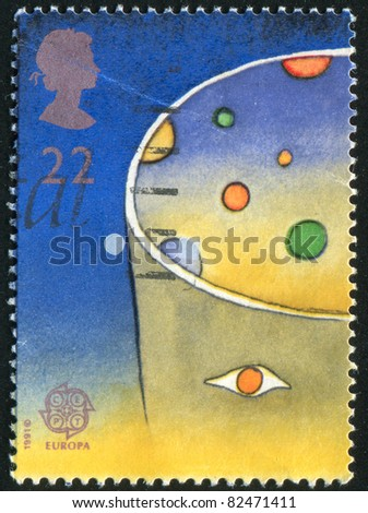 GREAT BRITAIN - CIRCA 1991: stamp printed by Great Britain, shows Europa, Planets, circa 1991
