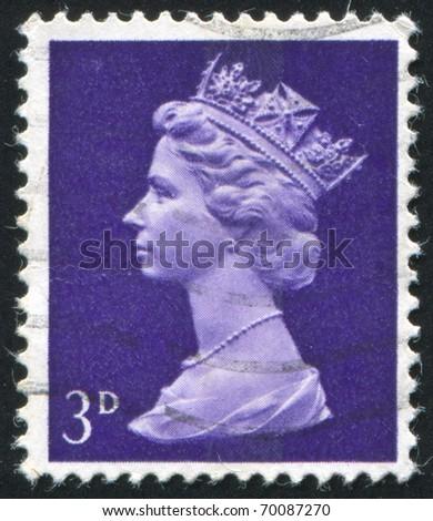 GREAT BRITAIN - CIRCA 1982: stamp printed by Great Britain, shows queen Elizabeth II, circa 1982 - stock photo
