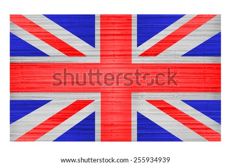 Great Britain Flag painted on grunge wall - stock photo
