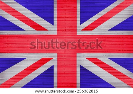 Great Britain Flag painted on grunge wall