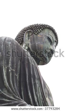 Great buddha on white background - stock photo
